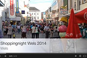 Video von der Welser Shopping-Night 2014