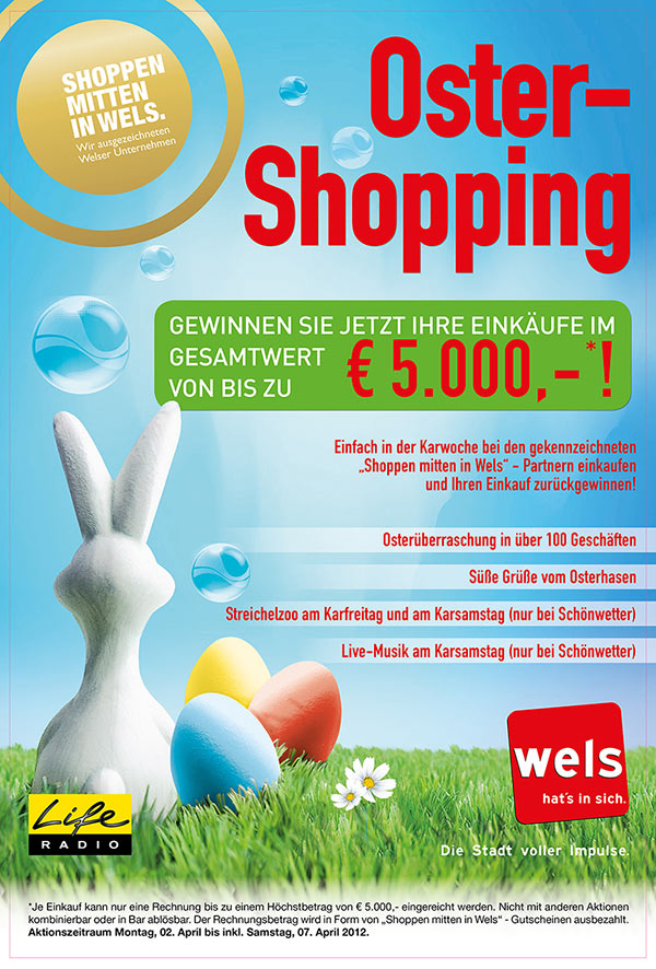 Plakat Oster-Shopping 2012