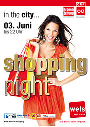 Plakat shopping night