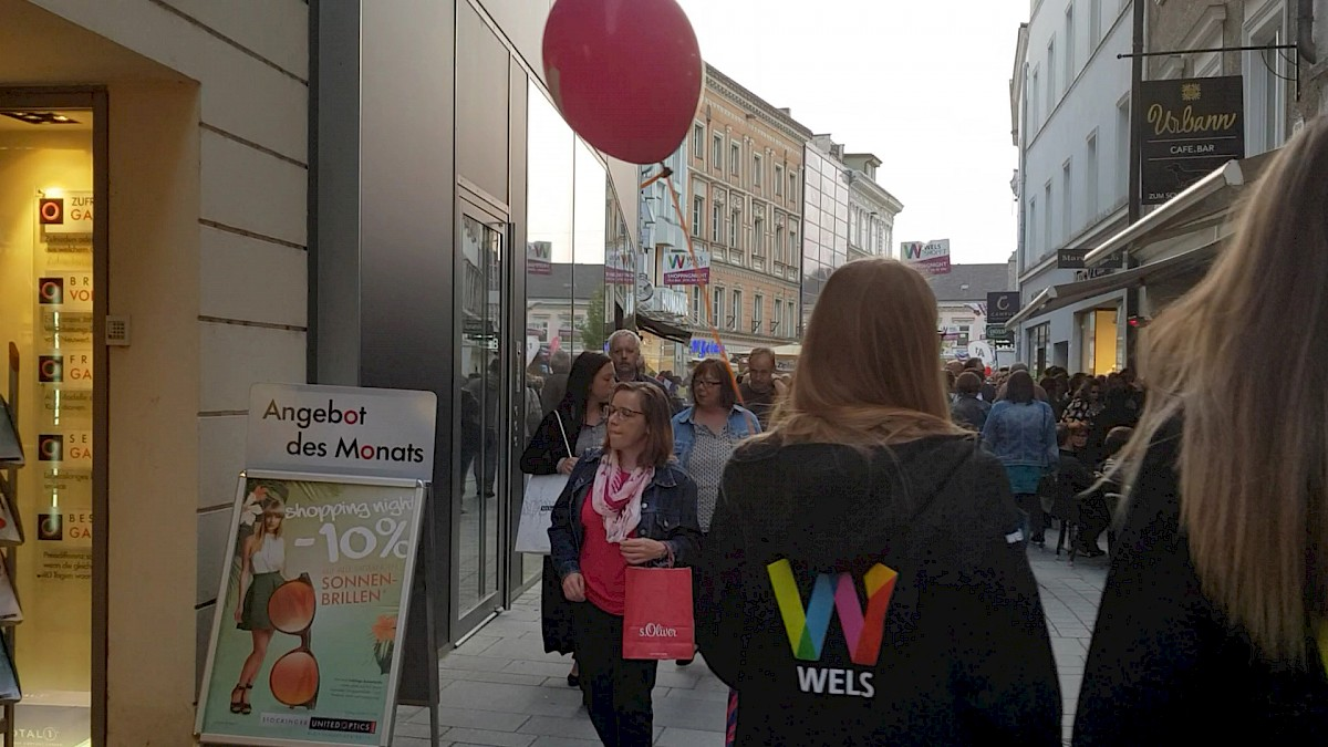 Das Video von der Welser Shoppingnight im Mai.